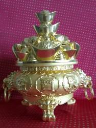 聚寶盆[小]金色青銅NO:818